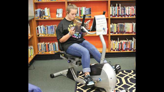 Indian-Creek-Middle-School-students-are-reading-and-riding