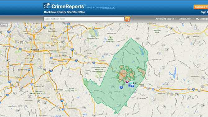 CrimeReports-map