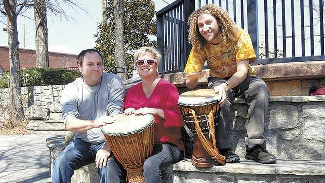 Drum-Circle-Luke-Conway-Lisa-Rivas-Evans-and-Justin-Conway