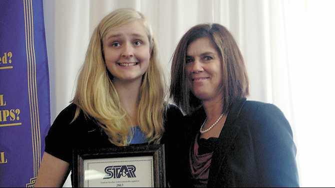 HeritageStar Megan Searles and teacher Julie Kimble