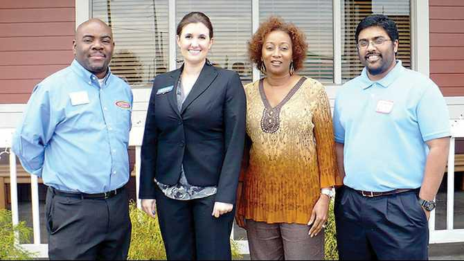 New-chamber-members-Dec-2012-Eddie-Griffin---360-Clean-Kelly-Pierce---Clear-Channel-Outdoor-Tiny-Burris---Health-on-the-Go-Anuj-Masih---Eagle-Physical-Therapy--Wellness