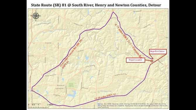 SR 81  South River Detour