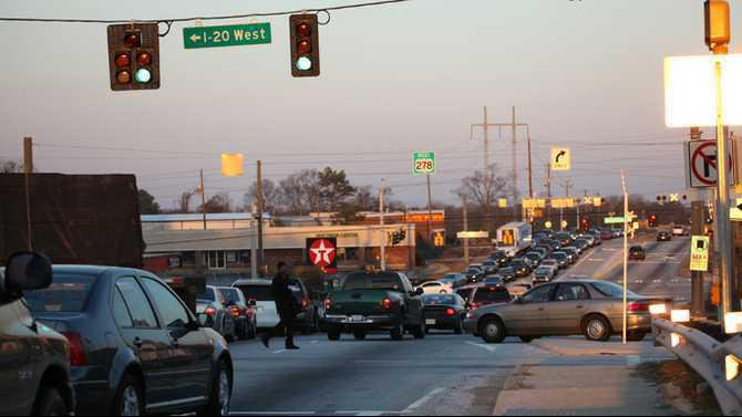 traffic on sigman in Feb 2011 IMG 0124-1