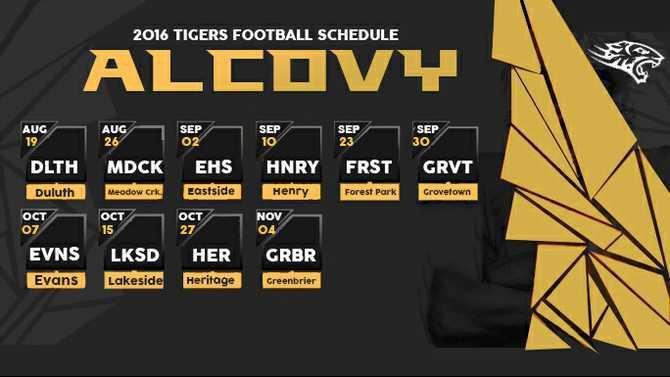 alcovy schedule 20162