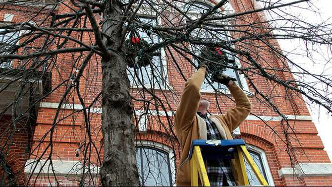 Christmas lights being taken down2Web