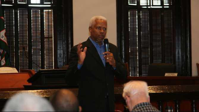 4-6-13 HankJohnson at town hall
