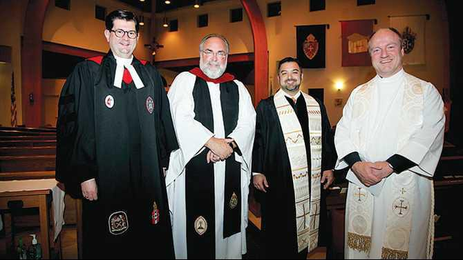 Ecumenical-service-Nov-26-2013-at-St.-Simons---CFUMC-Dr-Jon-Beyer-St.-Simons-the-Rev-Crockett-Trinity-Baptist-Pastor-Joe-Torres-St-Pius-X-Father-Randy-Maddox-IMG 1576