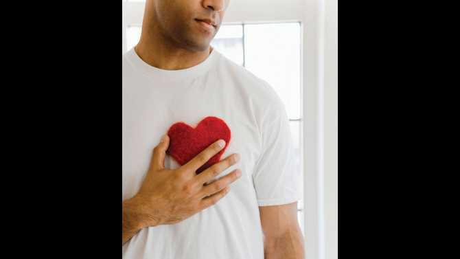 Man hand on heart