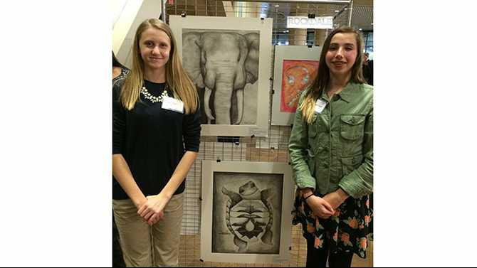 DMS-Capital-Art-Exhibit-2015-Raegan-and-Sophie