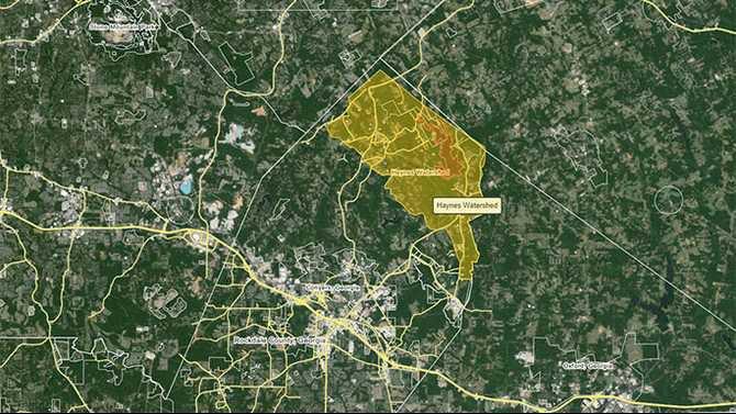Map-of-Big-Haynes-Creek-Watershed-Wikimapia