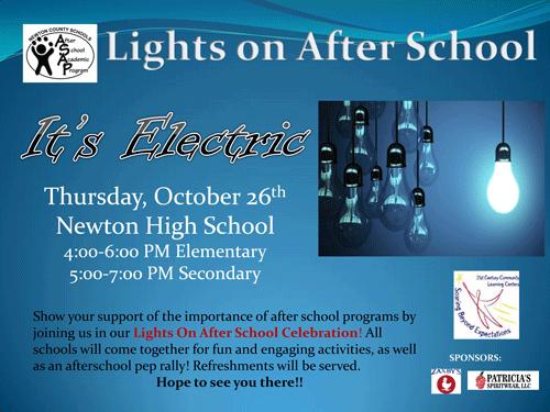 Lights on After School Flyer