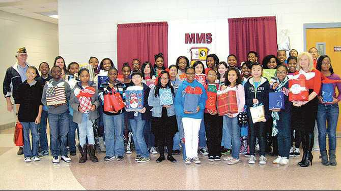 MMS-students-donate-to-VFW-for-veterans-in-Milledgville-IMG 9503