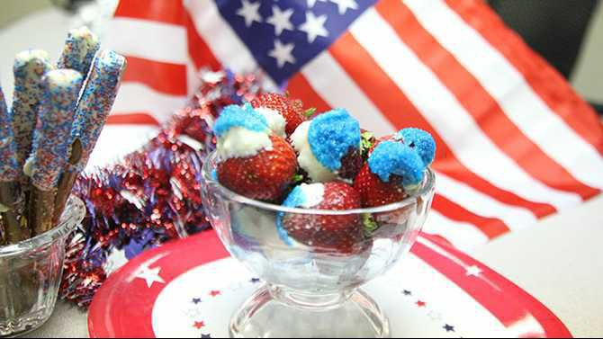 July 4th Independence Day patriotic strawberries and prezels Rockdale News Covington News IMG 0041