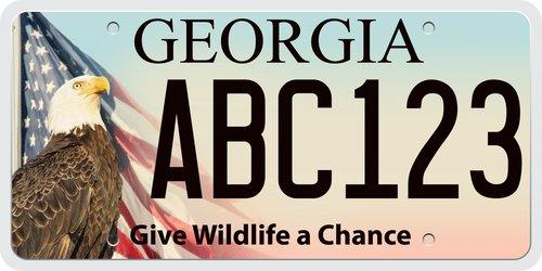 Eagle License Plate