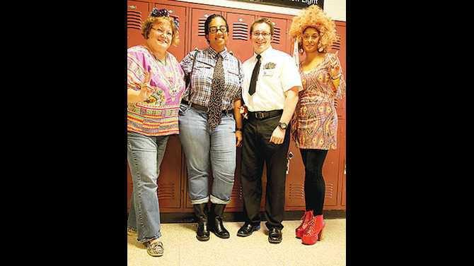 CMS-red-ribbon-week-decades-day---6th-grade-teacher-Paula-Evans-Jennifer-Toney-Jody-Poitevient-Shanee-McDaniel-IMG 8975