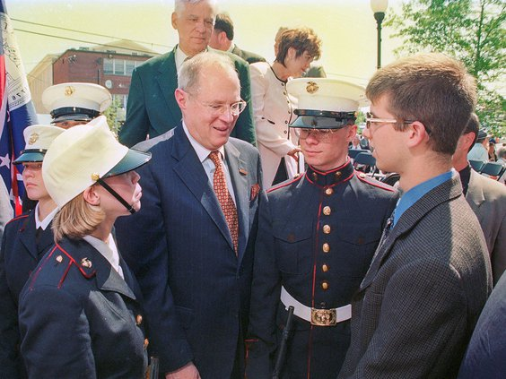 Kennedy speaks with Newton students