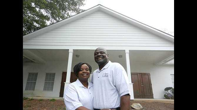 Arlesha-and-Moses-Little-new-church-in-Conyers-690