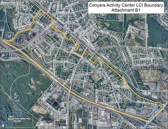 Conyers LCI Study Area Map