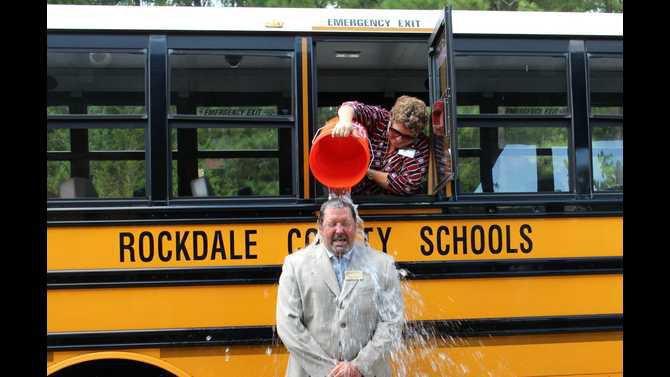 Autry ice bucket challenge HTE principal Laura Bates