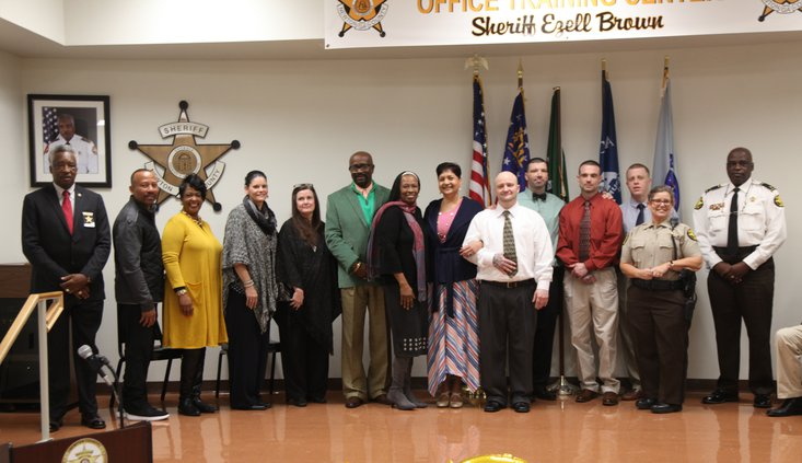 Sheriff Ezell Brown and Chief Deputy Jerry Carter with the facillitators and new graduates of NCSO's first RSAT class[6].jpg
