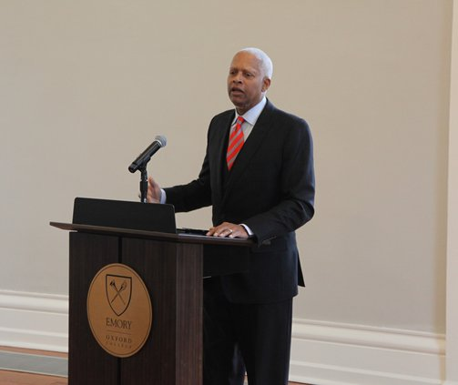 U.S. Rep Hank Johnson addresses Chamber luncheon Tuesday in Oxford.jpg