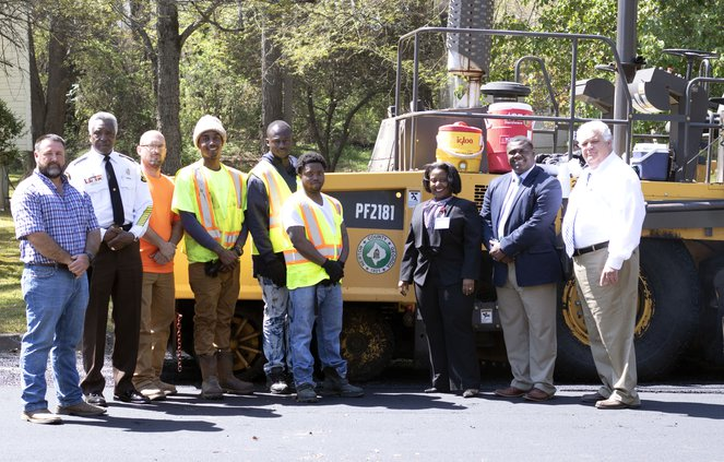 Road Superintendent Chris Malcom Sheriff Ezell Brown William Connell Nikkevious Frazier Damarious Banks Andre Darvy Amanda Shoemaker Marcello Banes Lloyd Kerr.jpg