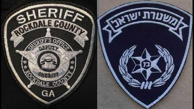 RCSO patch and Israeli Natl Police patch