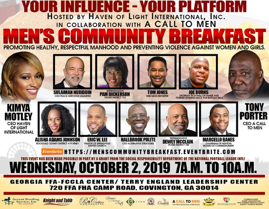 community breakfast to bring awareness to men on healthy relationships