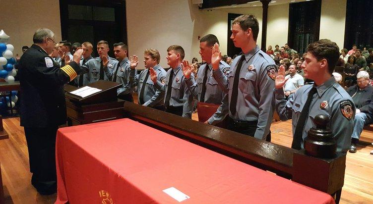 Firefighters take oath