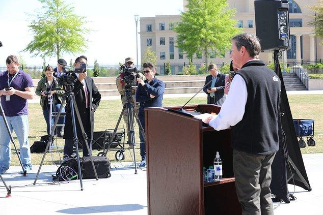 Kemp Addresses Media