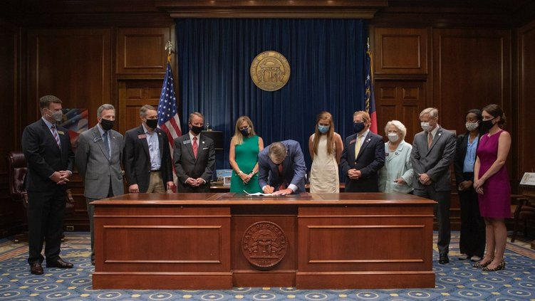 Gov. Kemp Signs Foster Care and Anti-Human Trafficking Legislation