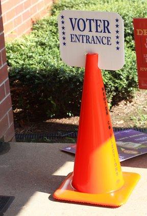 Voter entrance