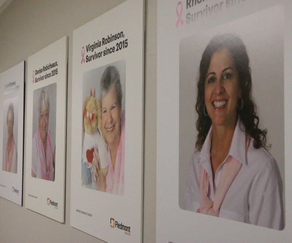 Piedmont breast cancer survivor wall