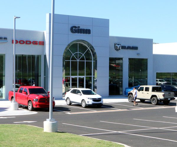 New Ginn Motors Chrysler-Jeep location