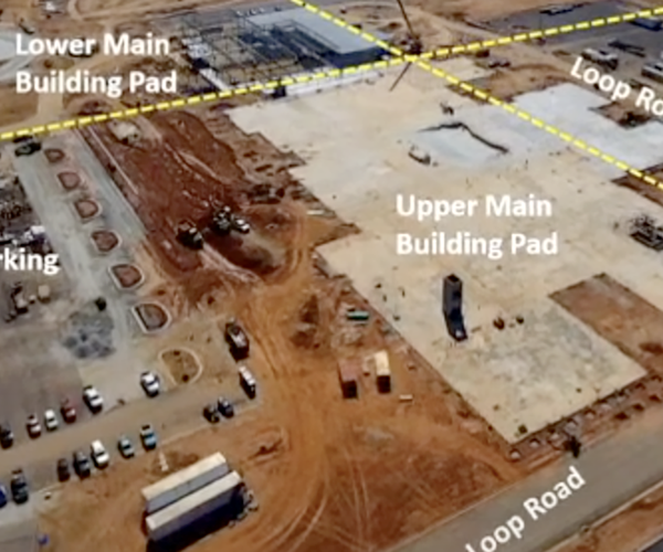 Eastside High School replacement project - aerial view