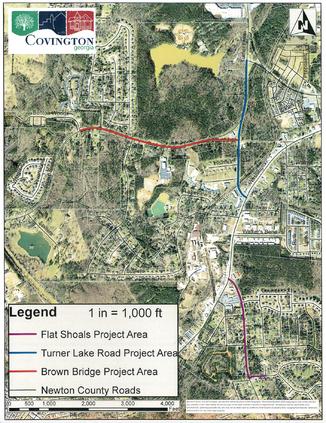 Sidewalk project mapped plan