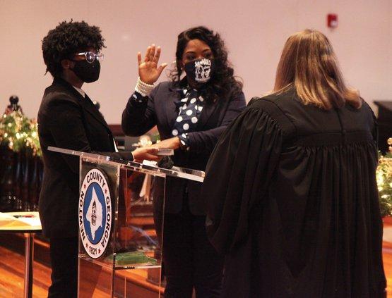 Sanders sworn in