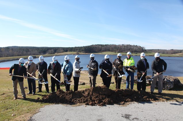 breaking ground on water treatment plant upgrades