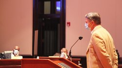 Dr. Little at BOC meeting