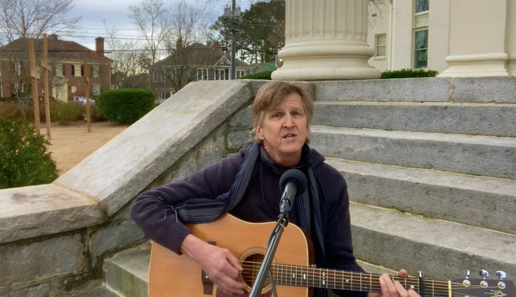Andy Irwin performs at Covington First UMC