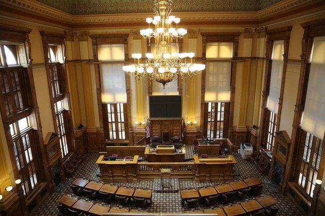 Georgia Senate chambers in the State Capitol
