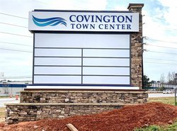 Town Center sign