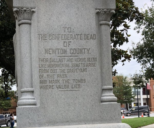 Confederate statue inscription