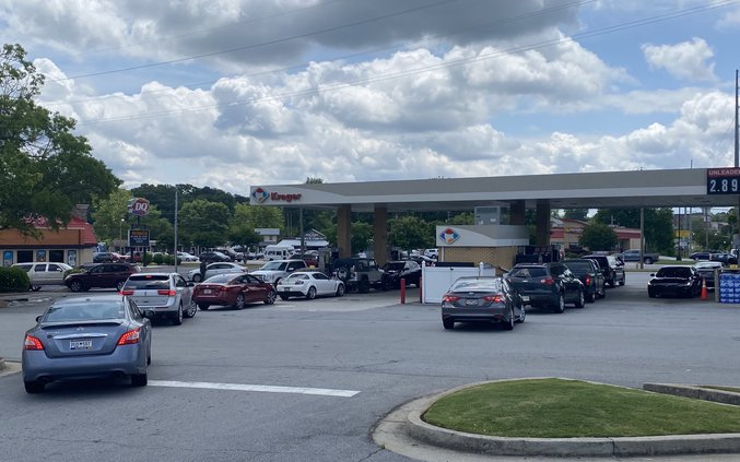 Kroger gas lines May 2021