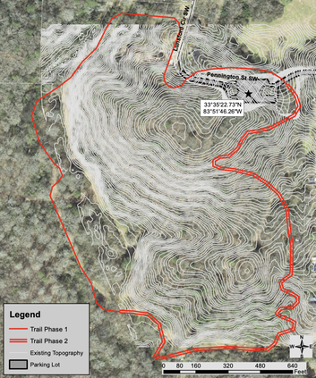Sketch of Red Trail at Central Park