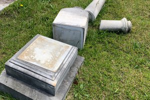 Means headstone toppled