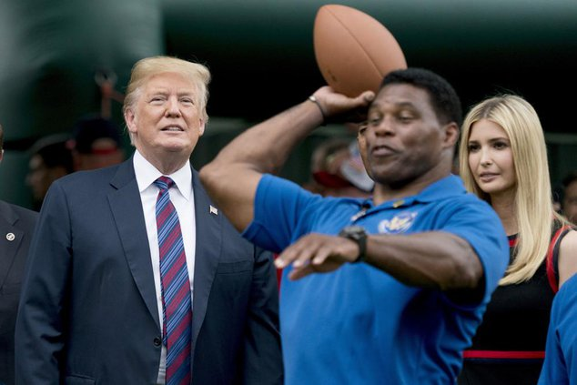 Herschel Walker and Donald Trump