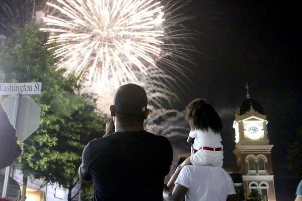 Fireworks show in Covington - July 4, 2021