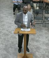 JC Henderson speaks at Covington council July 19 2021