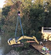 Crane bridge collapse